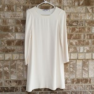 Helmut Lang Ivory Dress With Bell Sleeves Size XS